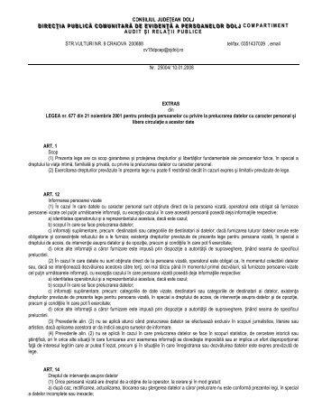 STR.VULTURI NR. 9 CRAIOVA 200688 tel/fax. 0351437039 , email ...