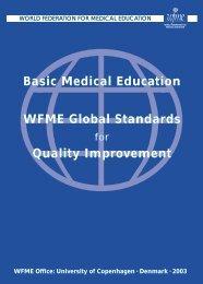 Quality Improvement in Basic Medical Education - World Federation ...