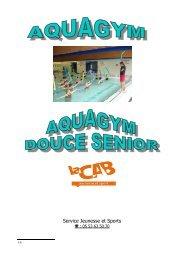 Aquagym Dossier 2013-2014 CAB - Bergerac