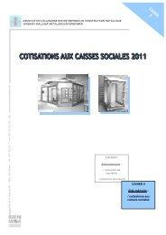 Cotisations aux caisses sociales 2011 - Association Valaisanne des ...