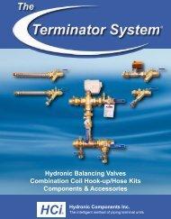 HCi - Hydronic Components Inc., Terminator Balancing Valves