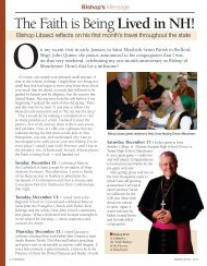 The Faith is Being Lived in NH! - Diocese of Manchester