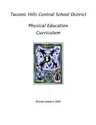 Taconic Hills Central School District Physical Education Curriculum
