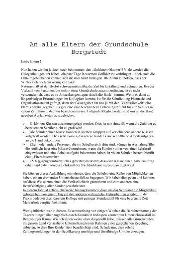 Elternbrief GsBo 23102011 - Grundschule Borgstedt