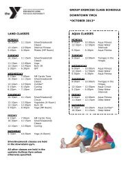 GROUP EXERCISE CLASS SCHEDULE ... - Frankfort YMCA