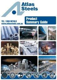 Australian Product Summary Guide - Atlas Steels