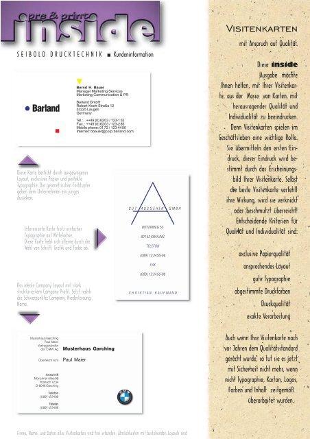 Visitenkarten Neu7 Pmd