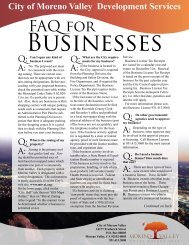Business FAQs - Moreno Valley