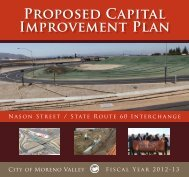 PROPOSEd CAPitAl IMPROvEMENt PlAN - Moreno Valley