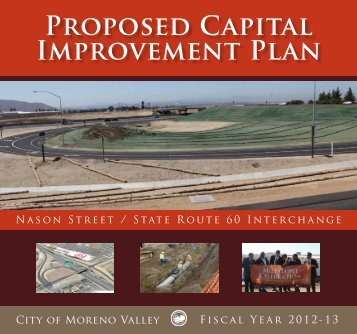PROPOSEd CAPitAl IMPROvEMENt PlAN - Moreno Valley