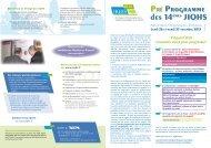 Pré Programme des 14èmes JIQHS