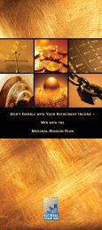 Don't Gamble with Your Retirement (PDF) - IAM National Pension ...
