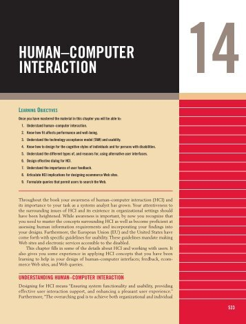 HUMAN–COMPUTER INTERACTION - Prentice Hall