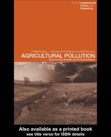 Agricultural Pollution: Environmental Problems and ... - Developers
