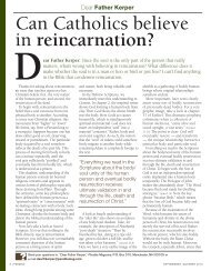 Can Catholics believe in reincarnation?