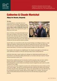 Catherine and Claude Marechal - Rathdowne Cellars
