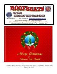 December 2012 - Lubbock Mustang Club