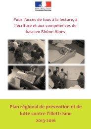 Plan Rhône-Alpes - Agence Nationale de Lutte contre l'Illettrisme