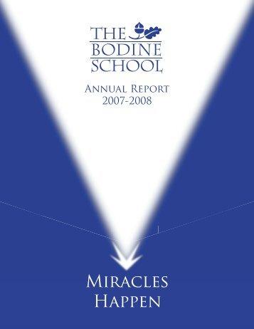 2008 Annual Report - Bodine School