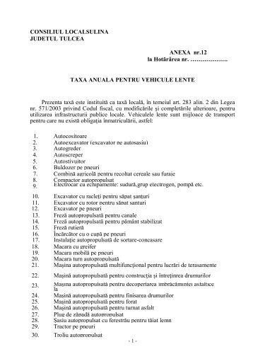 Anexa nr.12 - Primaria Sulina