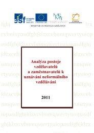 Analýza postoje vzdělavatelů a zaměstnavatelů k uznávání ... - NIDM