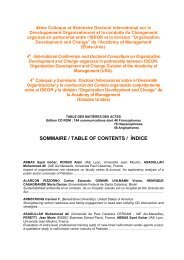 SOMMAIRE / TABLE OF CONTENTS / ĺNDICE - ISEOR