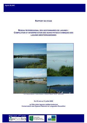 cf. travail réalisé par Agnès Blanc en 2009 sur les données RIGL de ...