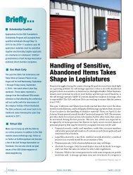 Handling of Abandoned Items - Self Storage Association Globe