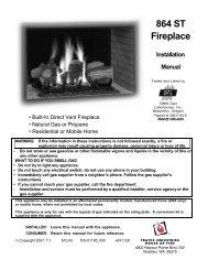 864 ST Fireplace Installation Manual - Lopi
