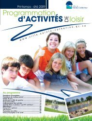 Info activités printemps-été loisir 2009 - Ville de Sainte-Catherine