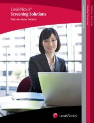 LexisNexis® Screening Solutions - LexisNexis Risk Solutions