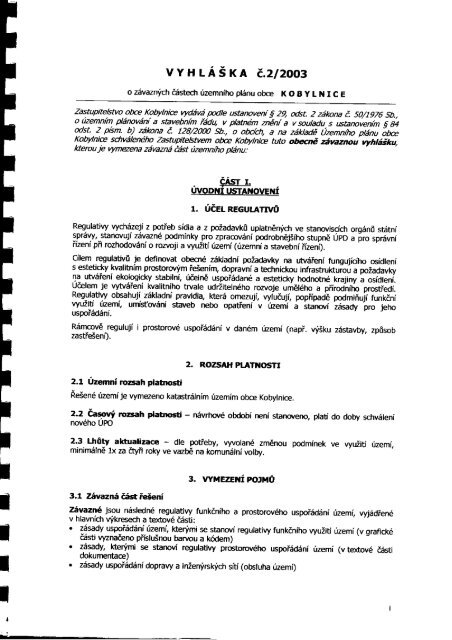 Vyhláška č. 2/2003 - Kobylnice