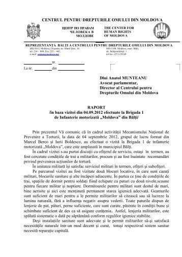 CENTRUL PENTRU DREPTURILE OMULUI DIN MOLDOVA Dlui ...