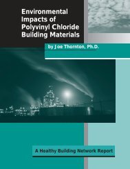 Environmental Impacts of Polyvinyl Chloride Building Materials