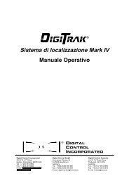 Sistema di localizzazione Mark IV Manuale Operativo
