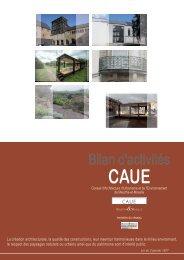 Bilan d'activités 2012 - CAUE 54