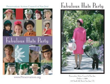 Fabulous Hats Party Fabulous Hats Party - Preservation Action ...
