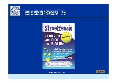 Tennisverband NORDWEST eV Tennisverband NORDWEST eV ...