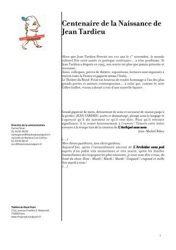 Dossier de presse - Théâtre du Rond-Point