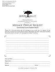 Message Display Request - Moreno Valley