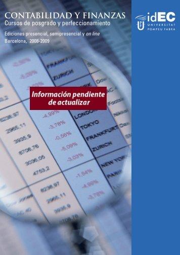 CONTABILIDAD Y FINANZAS - IDEC - Universitat Pompeu Fabra