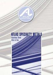 Stainless Steel Wire & Bar - Atlas Steels