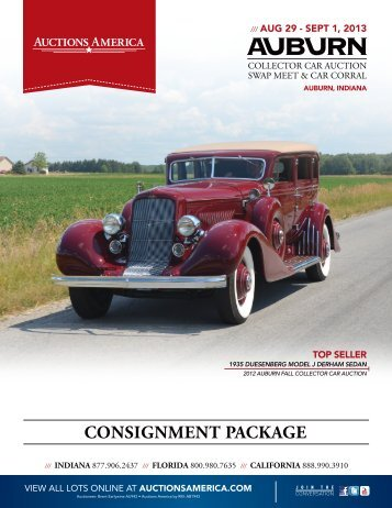 CONSIGNMENT PACKAGE - Auctions America