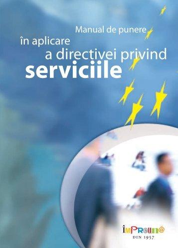 Manualul de punere în aplicare a Directivei privind serviciile - Europa