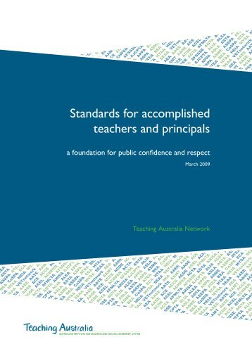 Standards for accomplished teachers and principals - Australian ...