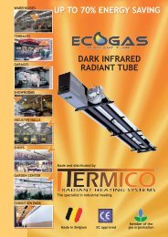 Folder radiant heating products - Termico