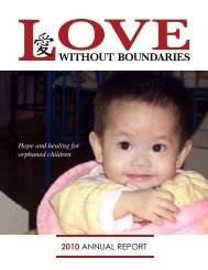 2010 AnnuAl report - Love Without Boundaries