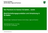 Fischereiliche Bewirtschaftung im Kanton St.Gallen (5078 kB, PDF)
