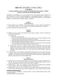 Obecně závazná vyhláška obce Kobylnice č. 3/2012