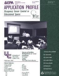 Occupancy Sensor Control in Educational Spaces - Clean Air Counts